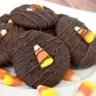 Halloween: Chocolate Candy Corn Cookies