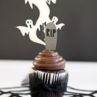 Ghost Cupcake Topper for Halloween