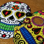 Halloween Day of the Dead Sugar Skull Printable Masks