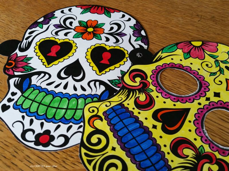 Day Of The Dead Masks Coloring Pages | Skull coloring pages, Day ... | 600x800