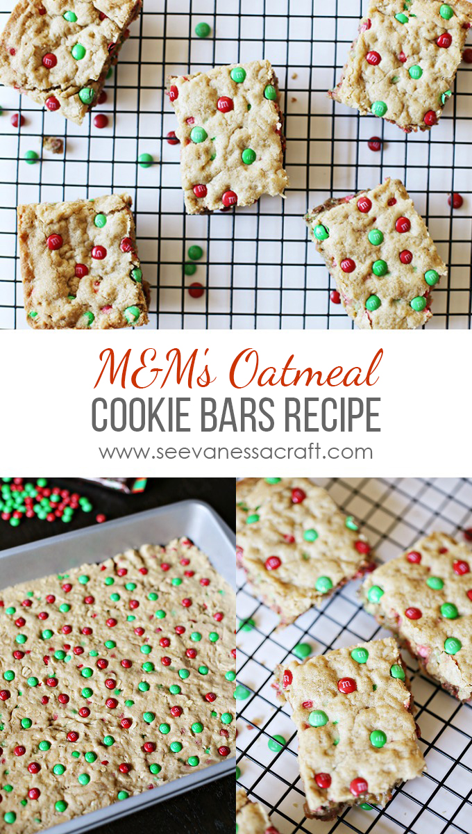 M&M Cookie Bars Recipe