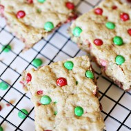 M&Ms Oatmeal Cookie Bars 11 copy