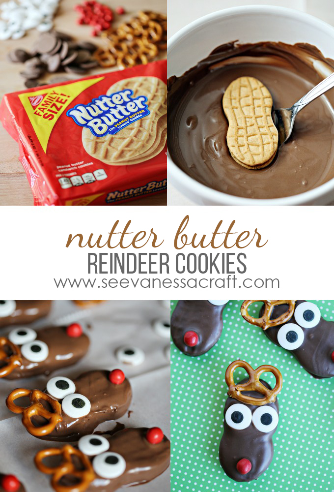 Christmas Nutter Butter Reindeer Cookies See Vanessa Craft