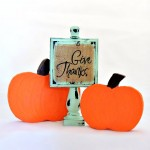 Thanksgiving: Give Thanks Wood Decor