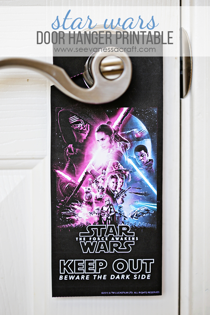 Star Wars Door Hanger Printable