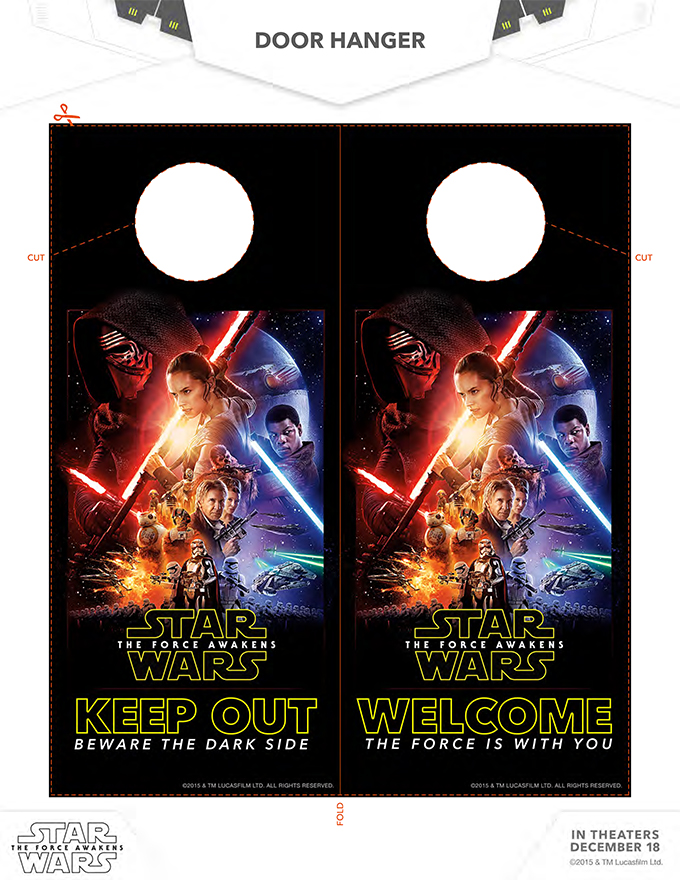 Star Wars Door Hanger