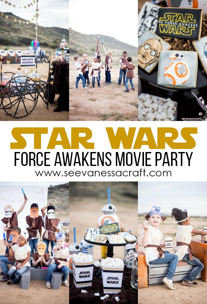 Star Wars Force Awakens Movie Night Party copy