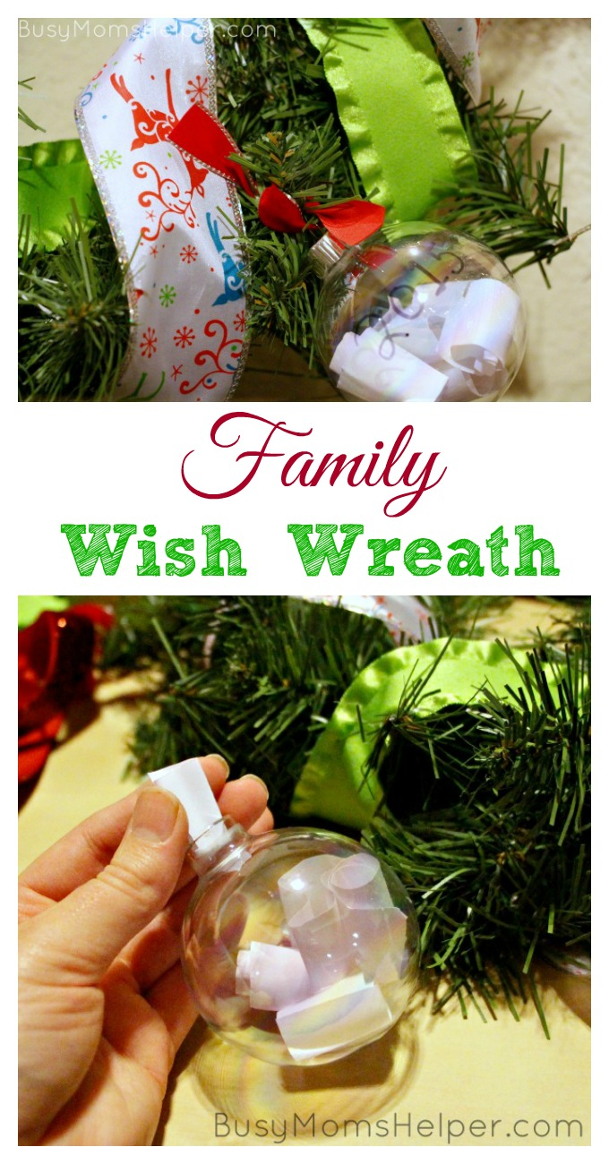 Family Christmas Wish Wreath