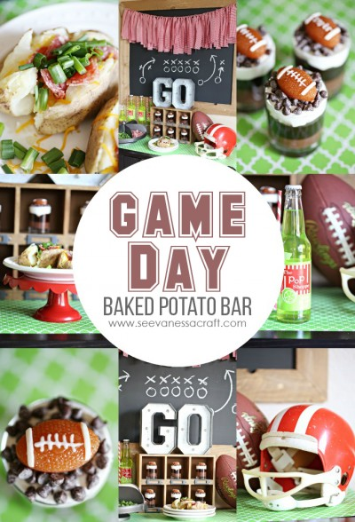 Game Day Football Party Baked Potato Bar