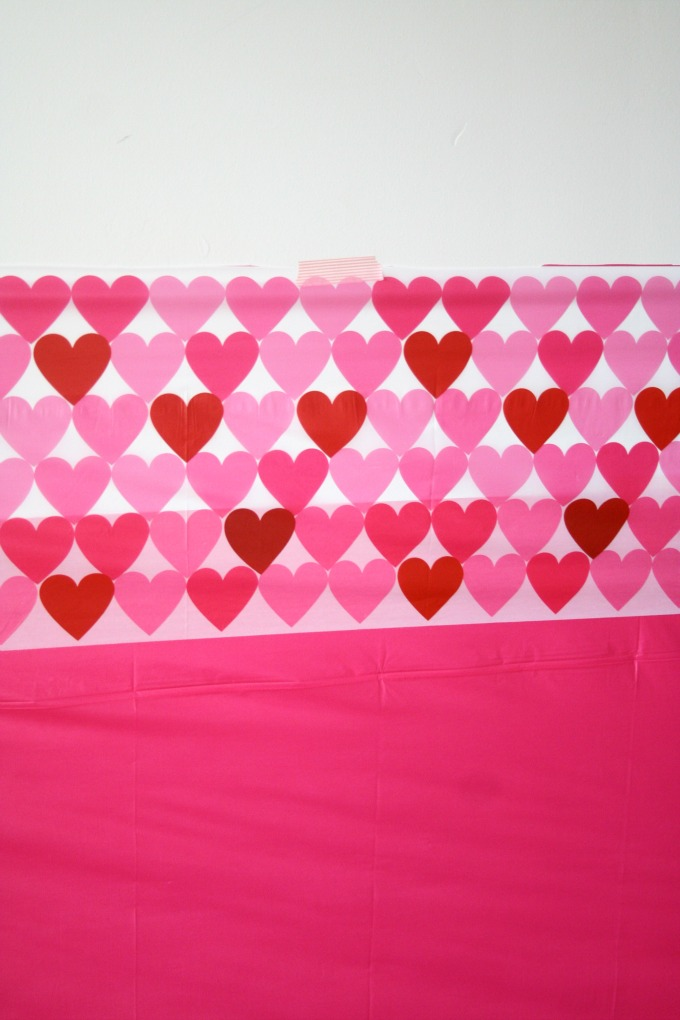 Simple Photo Booth Backdrop Using Plastic Table Cloth