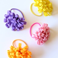 Craft: Easy Felt Flower Hair Tie