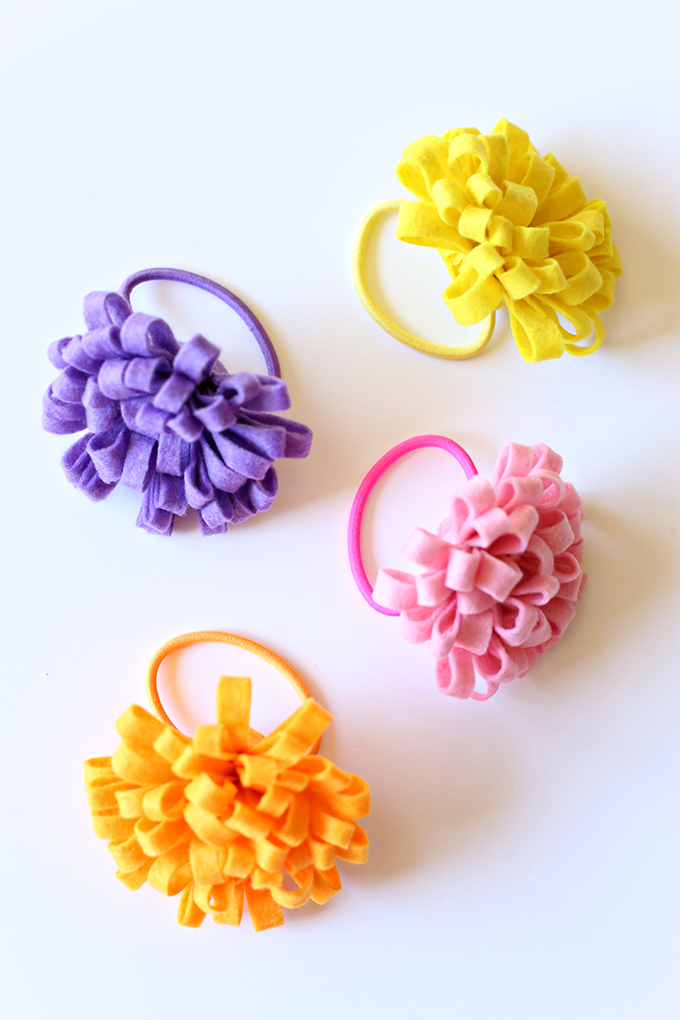 Felt Flower Hairtie 10 copy