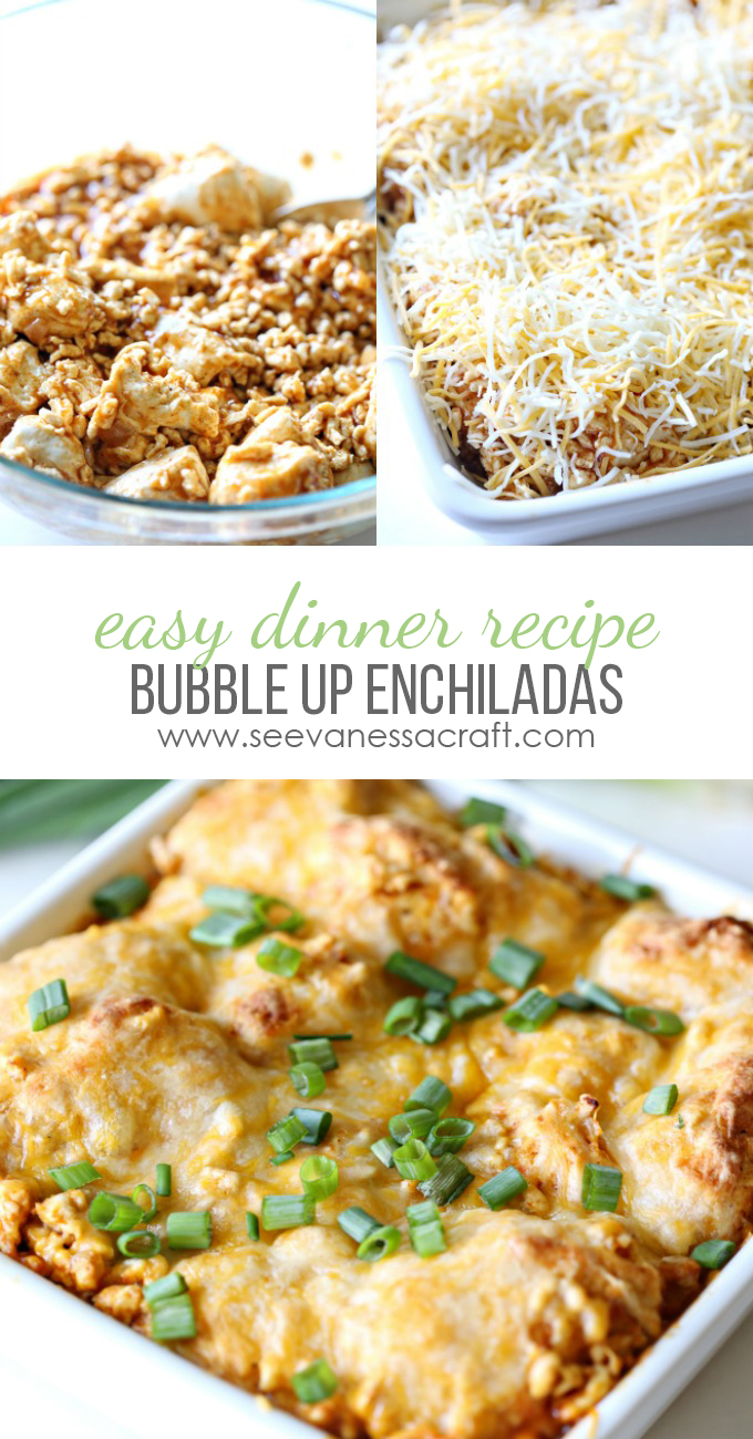 Bubble Up Cheesy Enchilada Easy Dinner Recipe