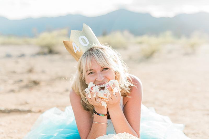Party 40th Birthday Cake Smash Photo Shoot See Vanessa