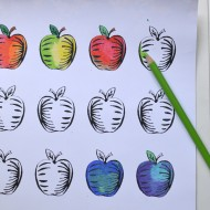 Printable: Apple Adult Coloring Sheet