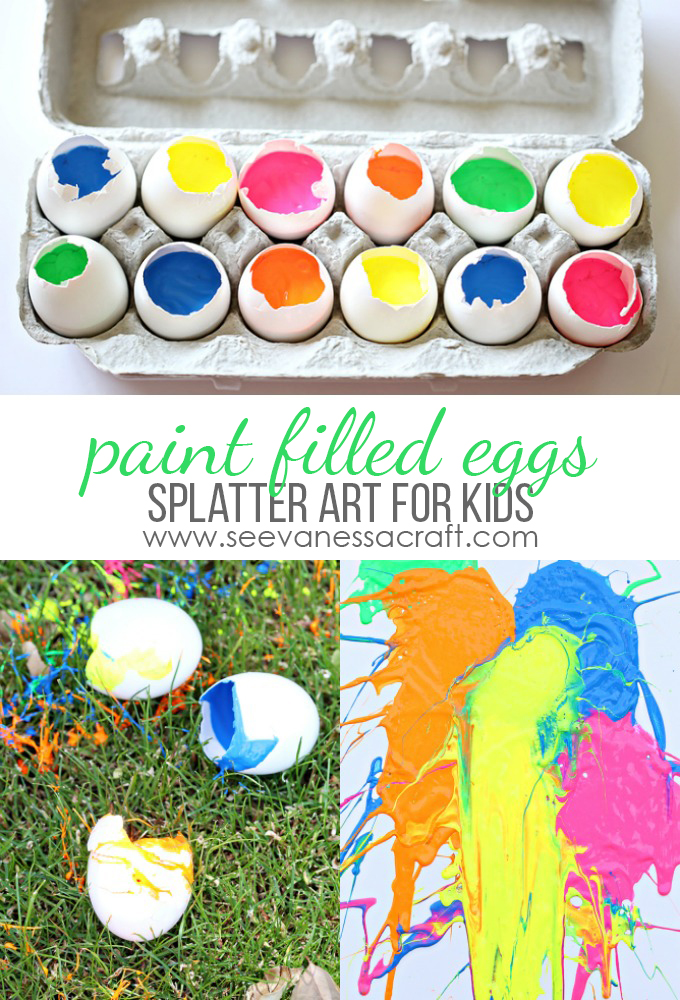 Egg Splatter Art Inspired by Blue Man Group copy