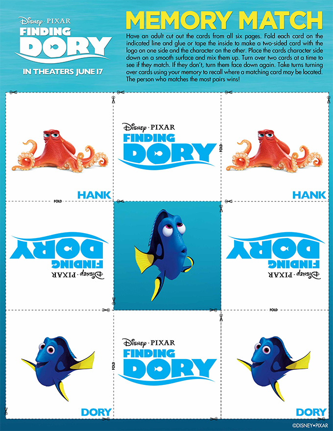 Finding Dory Matching Game