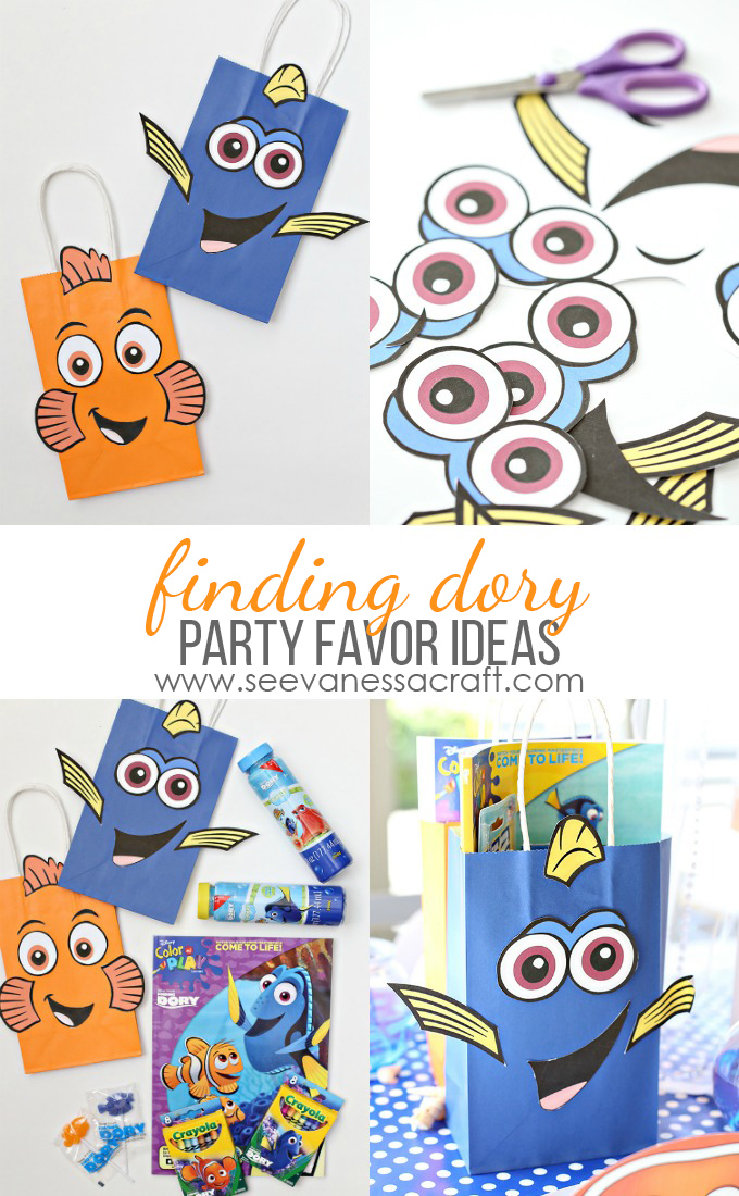 Finding Dory Bag and Party Favor Ideas