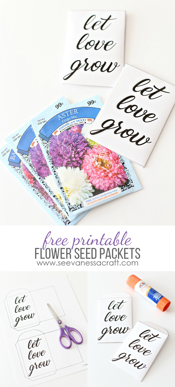 photograph regarding Printable Seed Packets called Printable: Allow Get pleasure from Increase Seed Packets - Check out Vanessa Craft