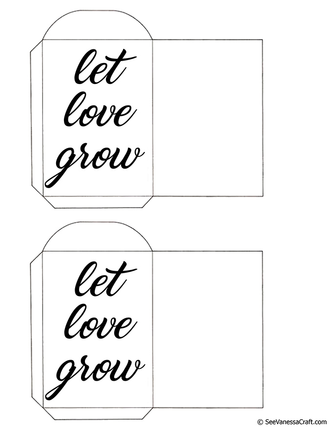 image regarding Printable Seed Packets named Printable: Allow for Delight in Mature Seed Packets - Perspective Vanessa Craft