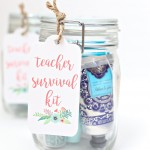 Printable: Teacher Survival Kit Gift and Tags