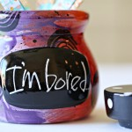 Craft: Bored Jar and Washi Tape Popsicle Sticks
