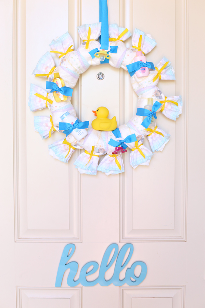 Diaper Wreath Tutorial 10 copy