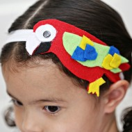 The Wild Life Movie - Felt Parrot Headband Tutorial