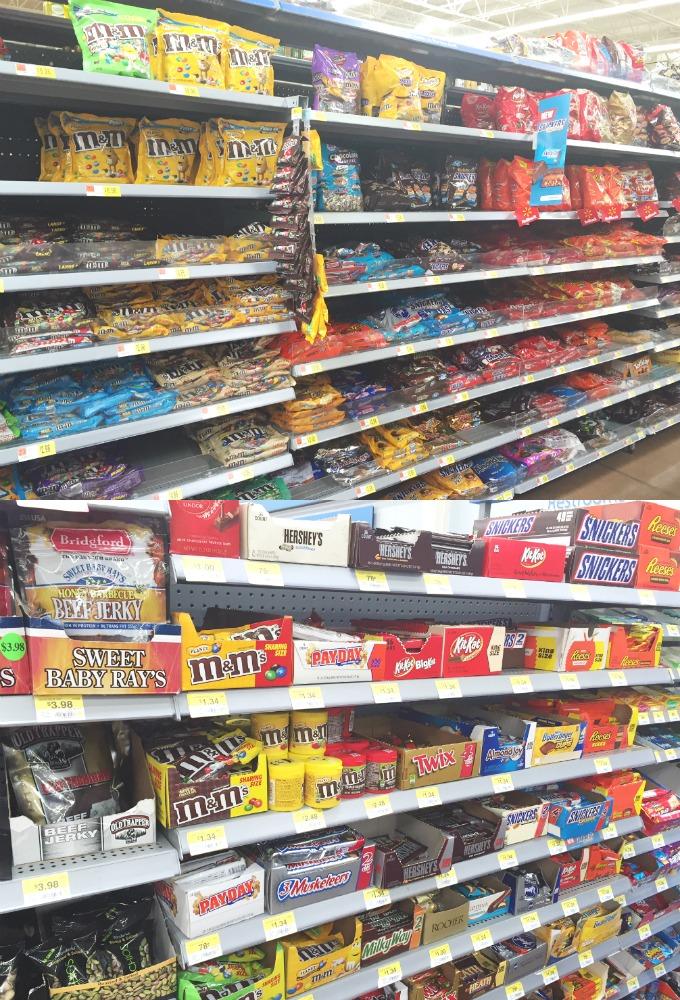 Walmart Mars Candy Aisle