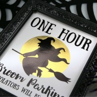 Halloween: Witch Broom Parking Deco Foil Printable