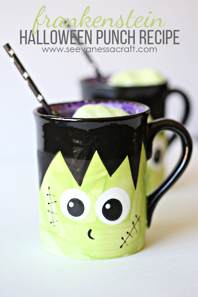 Halloween Frankenstein Punch Recipe SeeVanessaCraft