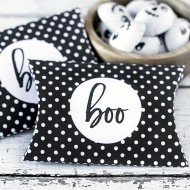 Halloween Free Printable Polka Dot Pillow Box