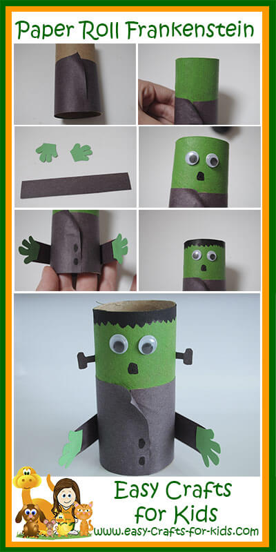 halloween-frankenstein-craft-collage