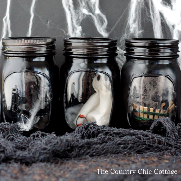 haunted house mason jars-008