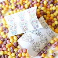 Craft: Printable Day of the Dead Pillow Boxes