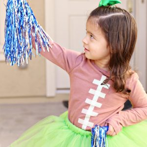 Football Shirt and Cheerleader Halloween Costume Tutorial