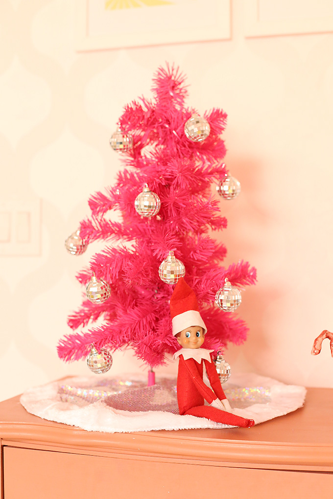 easy elf on shelf ideas 6 copy - Christmas Shelf Decorations