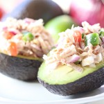 Recipe: Tomato and Jalapeno Tuna Stuffed Avocado