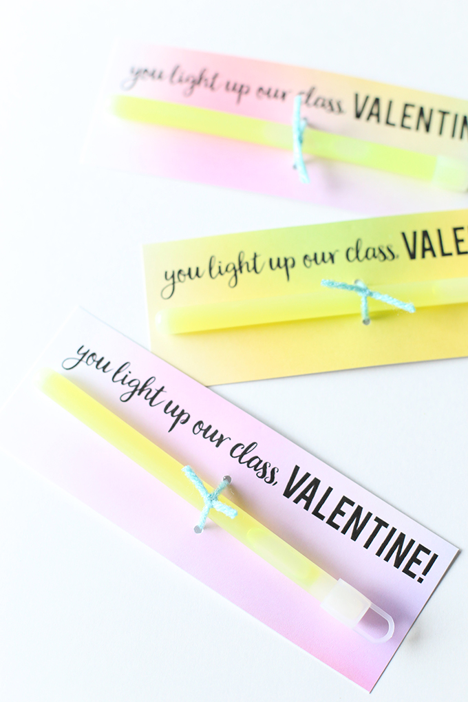 Glow Stick Valentine Printable 3 copy