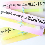 Glow Stick Valentine's Day Printable Cards
