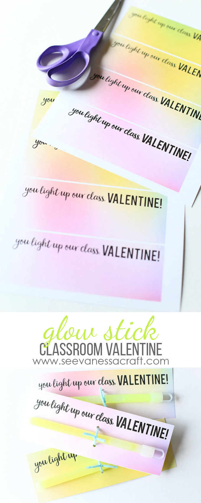 Glow Stick Valentines Day Printable copy