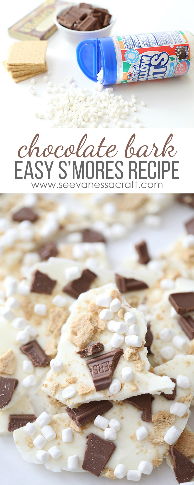 S'mores Chocolate Bark Recipe copy