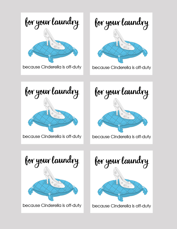 Cinderella Laundry Tag