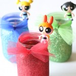 Craft: The Powerpuff Girls Glitter Night Lights
