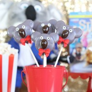 Sing Movie Night Ideas - Buster Moon Koala Oreo Pops