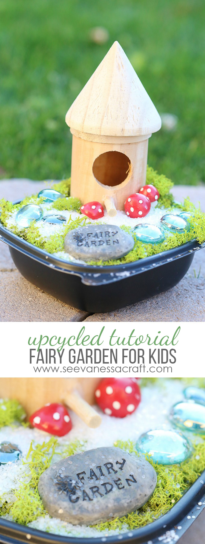 Upcycled Fairy Garden for Kids