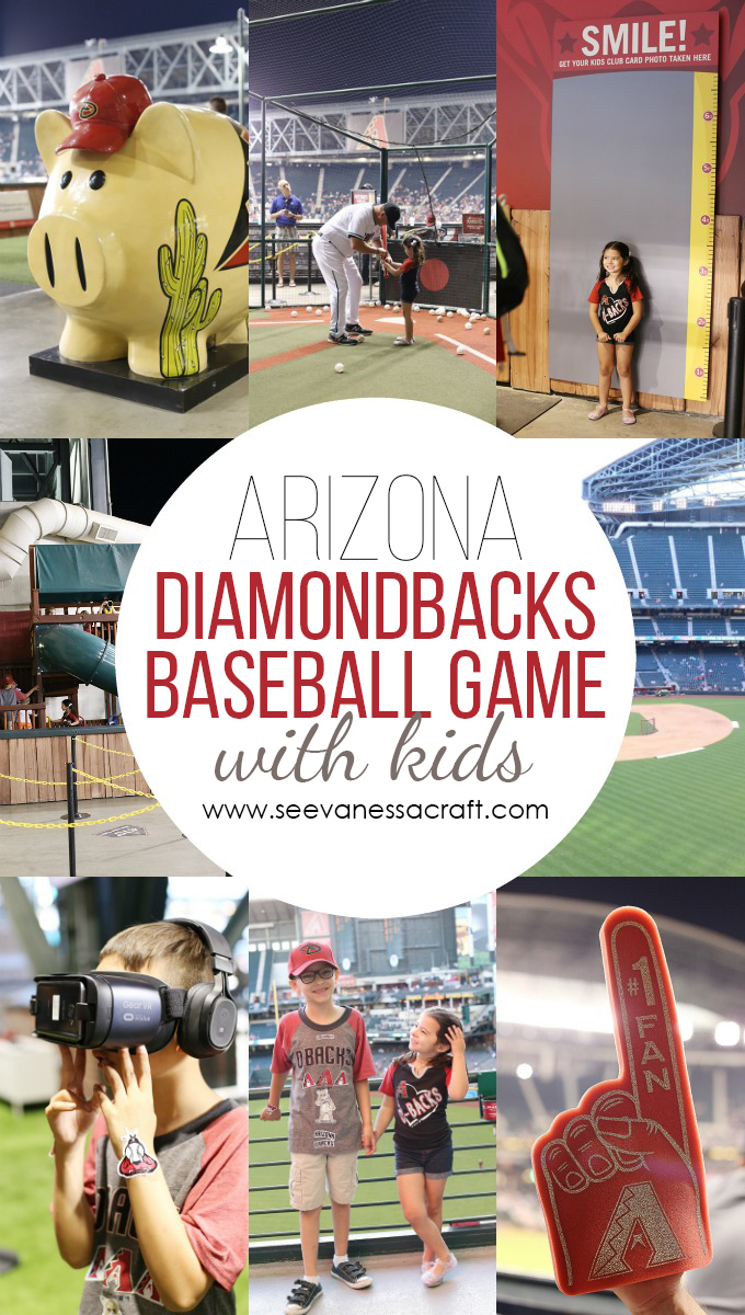 Diamondbacks Baseball Game with Kids