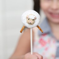 Little Lamb Easy Donut Pops for Easter or Birthday Party