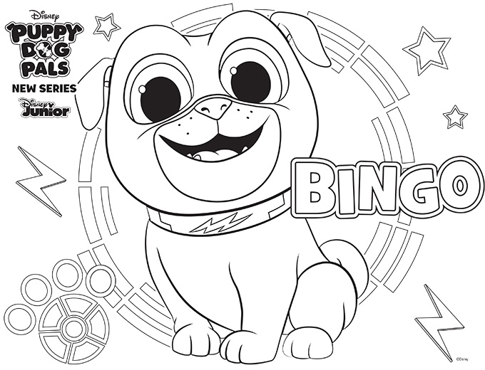 puppy dog pals coloring pages - disney puppy dog pals puppydogpals see vanessa craft