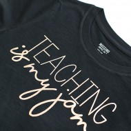 Rose Gold Foil Teaching Is My Jam Shirt and Tumbler Gift Idea